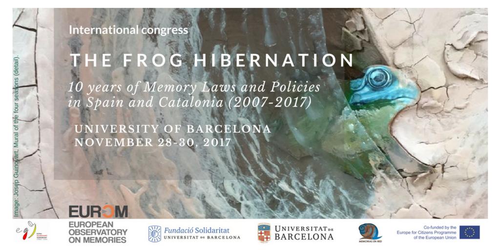 UNIVERSITY OF BARCELONA NOVEMBER 28-30, 2017