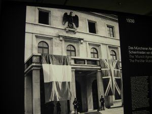 "Imperial Eagle with Swastica at the ""Führer's Building"" in Munich; picture taken in the Munich Documentation Centre for the History of National Socialism (photo: Stefanie Endlich)"