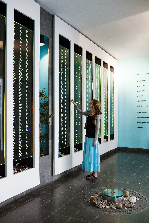 Wall of names National Holocaust Memorial. Photo Ruud van Zwet