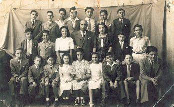 School photo showing Mauricio Palomo, Barcelona, 1930s.