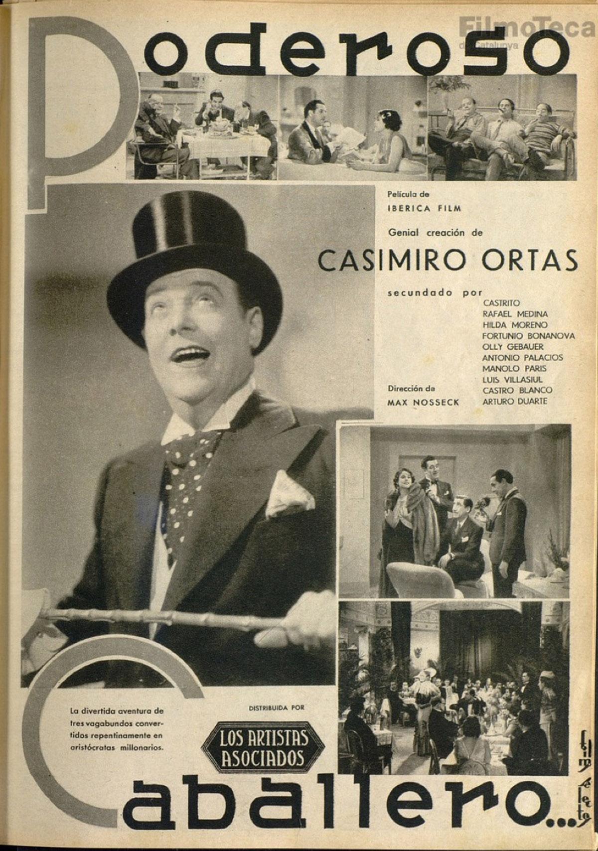 """Reportatge sobre """"Poderoso Caballero"""", una altra producció d'Ibérica Films."""