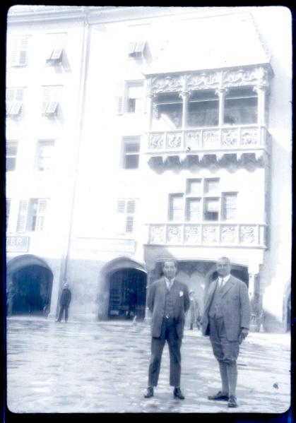David Oliver in Germany, 1920s. Arxiu Manu Valentin.