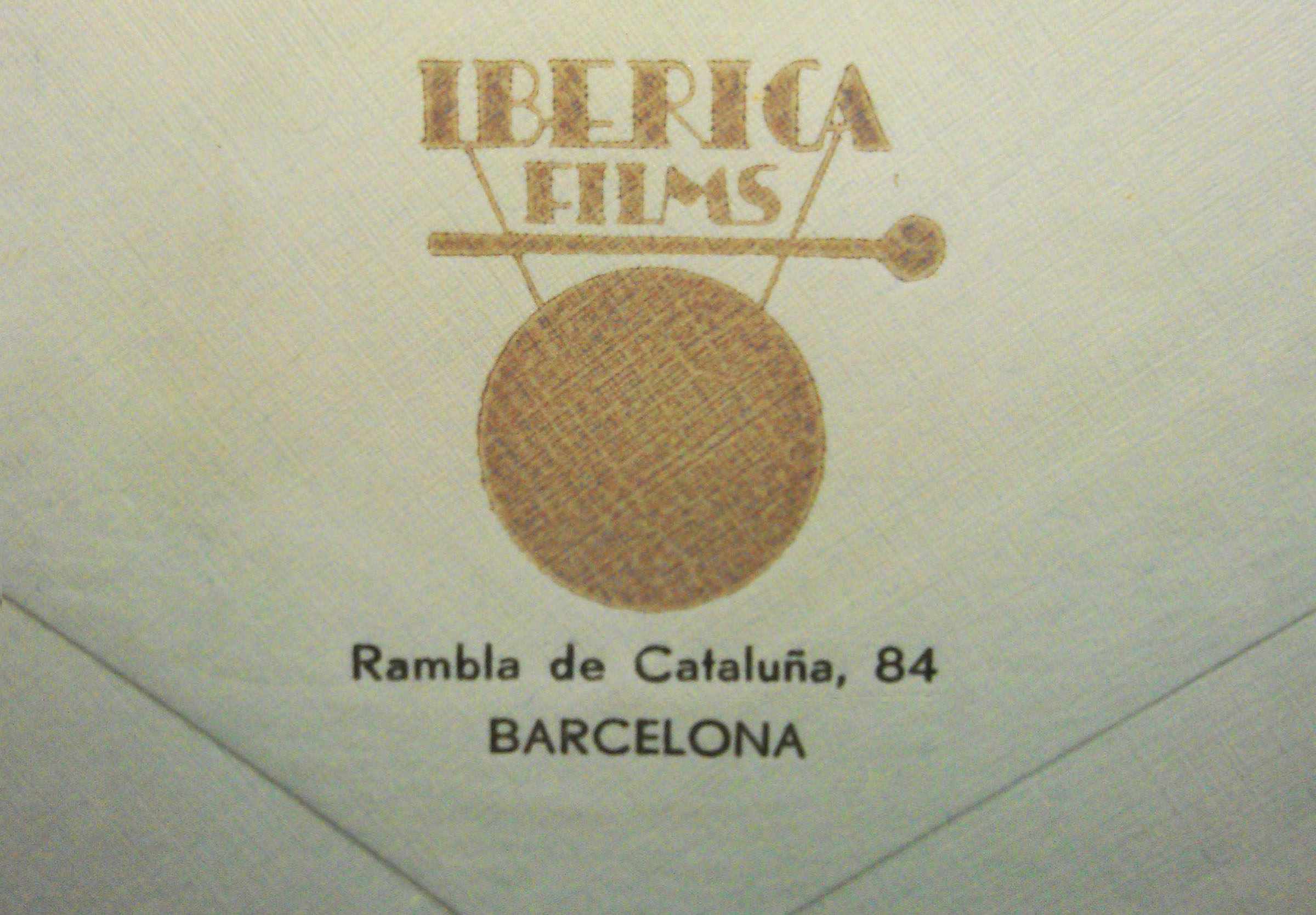 "Stamp of ""Ibèrica Films""."