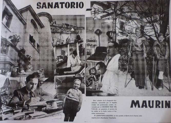 Maurín Sanatorium. Source: Socorro Rojo, April 15 1937
