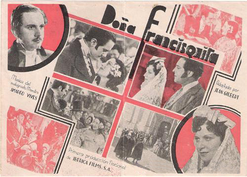 """Poster of """"Doña Francisquita"""", film produced by Iberian Films, 1934."""