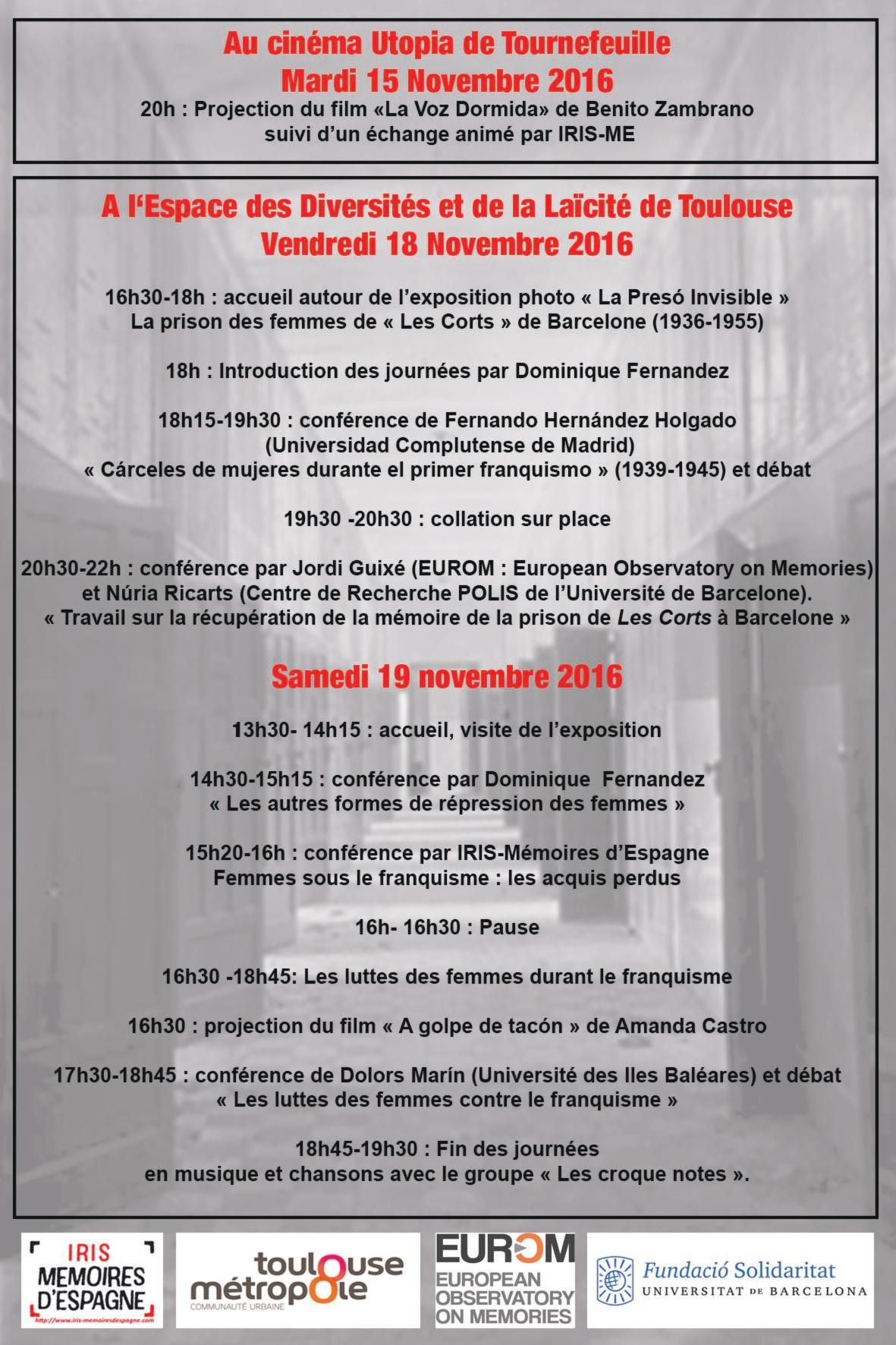 Movies about repression againts women during Francoism will be presented during the seminar in Toulouse