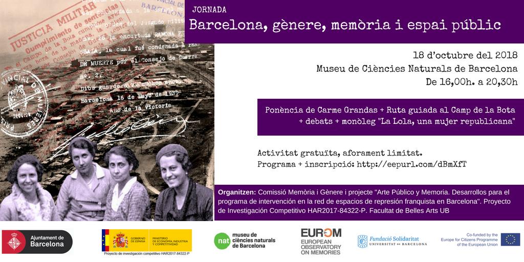 ART MEMORIA GENERE ESPAI PUBLIC 2018